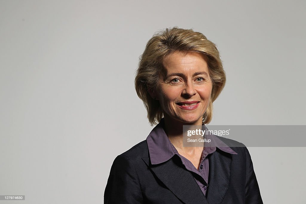 German Minister of Work and Social Issues Ursula von der Leyen poses for a photo on October 4, 2011 in Berlin, Germany. Von der Leyen, 52, is Deputy Chairwoman of the German Christian Democrats (CDU) and many analysts see her as a possible candidate one day for Chancellor.