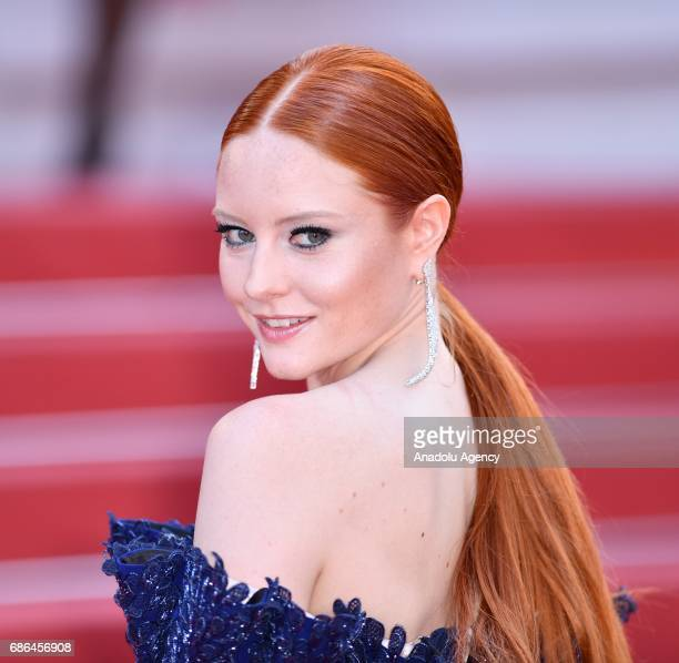 German model and actress Barbara Meier arrives for the film The Meyerowitz Stories in competition at the 70th annual Cannes Film Festival in Cannes...