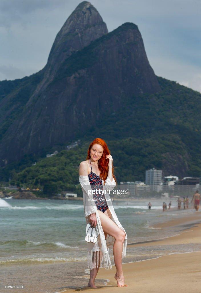 BRA: Barbara Meier Swimmwear Shooting In Rio de Janeiro