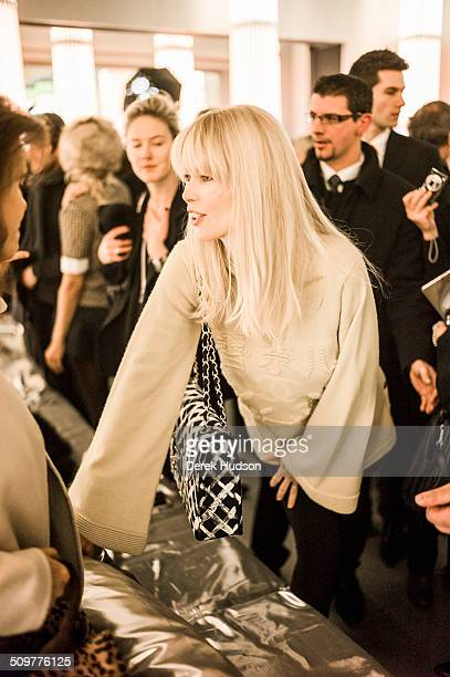 German model and actress Claudia Schiffer attends a fashion show at Karl Lagerfeld's Chanel headquarters Paris France 2010