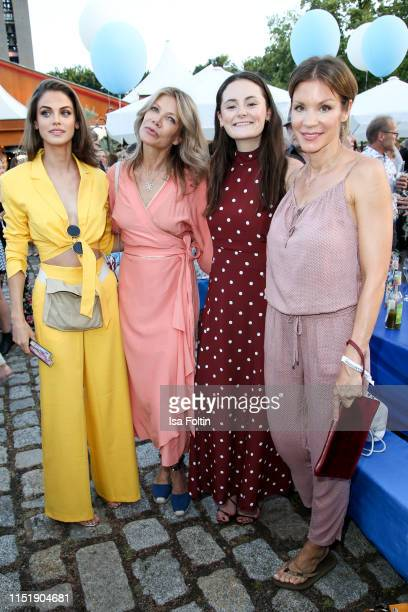 German model and actress Lisa Tomaschewsky, German actress Ursula Karven, German actress Lea van Acken and German actress Nina Gnaedig attend the...