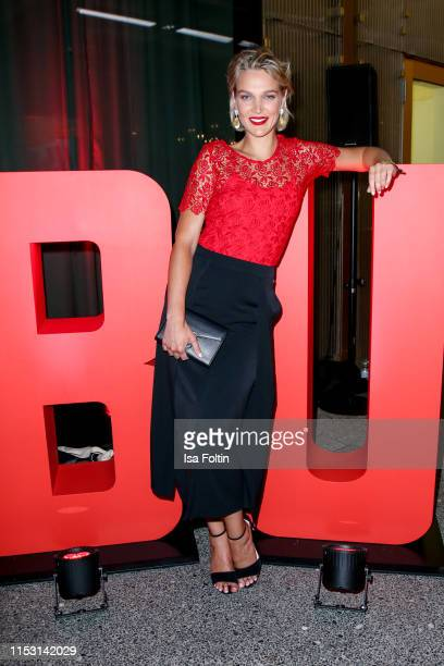 German model and actress Victoria Jancke attends the Bunte New Faces Night at Father Graham on July 1, 2019 in Berlin, Germany.
