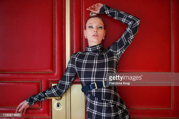 German model and actress Victoria Jancke during the Anja Gockel Winter Collection 20/21 presentation as part of the Berlin Fashion Week January 2021...
