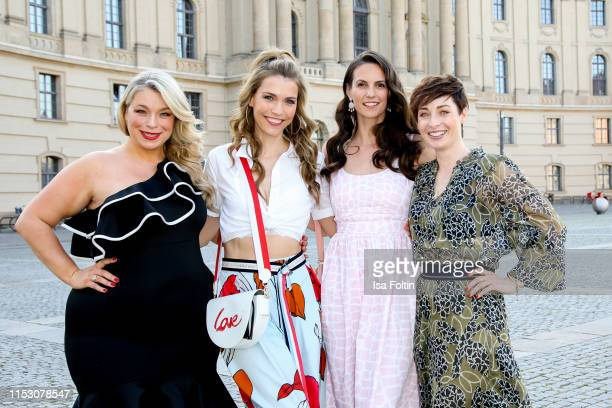 German model and presenter Caterina Pogorzelski,, German presenter Annett Moeller, German presenter Katrin Wrobel and German presenter Kathy Weber...