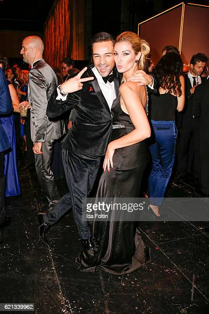 German model Annika Gassner and guest dances during the aftershow party during the 23rd Opera Gala at Deutsche Oper Berlin on November 5 2016 in...