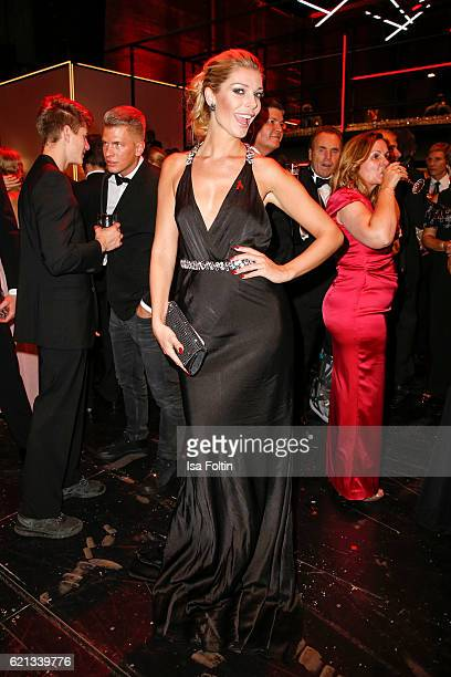 German model Annika Gassner attends the aftershow party during the 23rd Opera Gala at Deutsche Oper Berlin on November 5 2016 in Berlin Germany