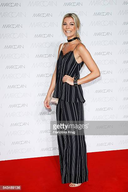German model Annika Gassner attends the Marc Cain show spring/summer 2017 at CITY CUBE Panorama Bar on June 28 2016 in Berlin Germany