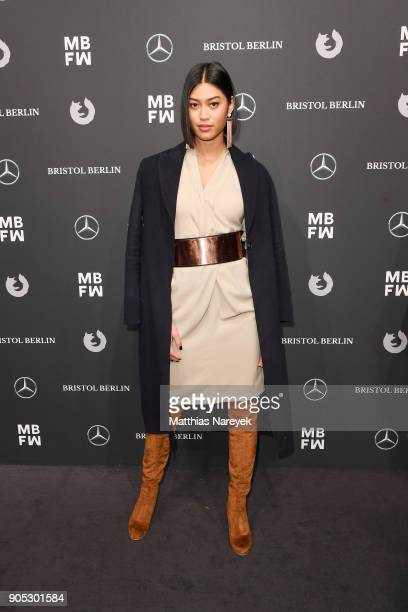 German model Anuthida Ploypetch attends the Dawid Tomaszewski show during the MBFW Berlin January 2018 at ewerk on January 15 2018 in Berlin Germany