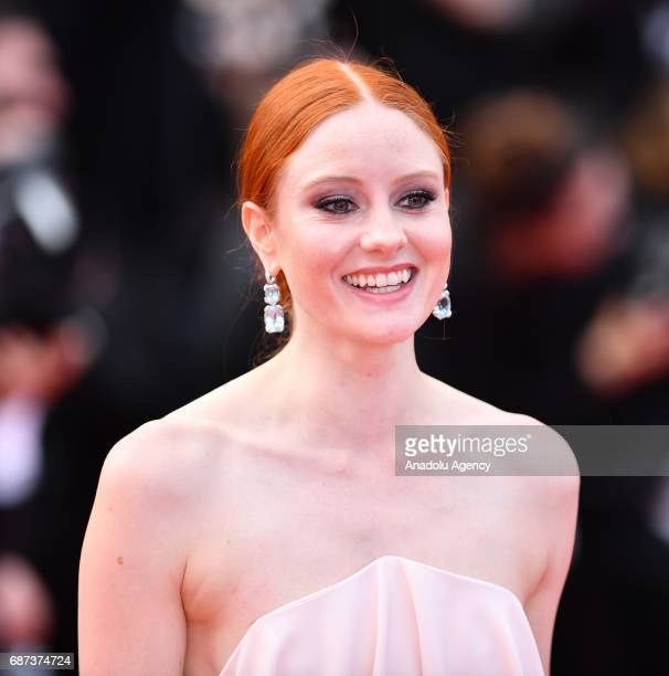 German model Barbara Meier arrives for the 70th Anniversary Ceremony of Cannes Film Festival in Cannes France on May 23 2017