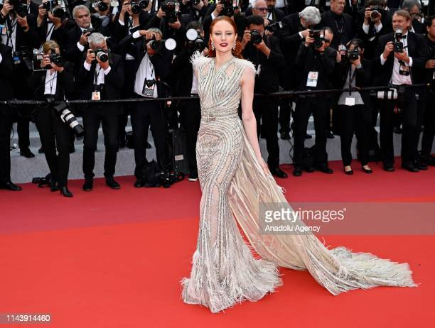 German model Barbara Meier arrives for the screening of the film 'The Dead Don't Die' and the Opening Ceremony at the 72nd annual Cannes Film...