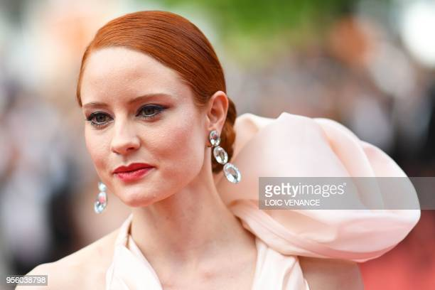 German model Barbara Meier arrives on May 8 2018 for the screening of the film Todos Lo Saben and the opening ceremony of the 71st edition of the...