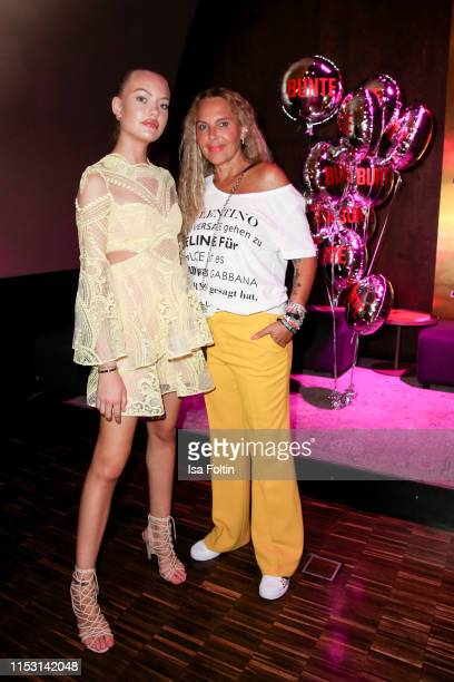 German model Cheyenne Savannah Ochsenknecht and her mother Natascha Ochsenknecht attends the Bunte New Faces Night at Father Graham on July 1 2019 in...