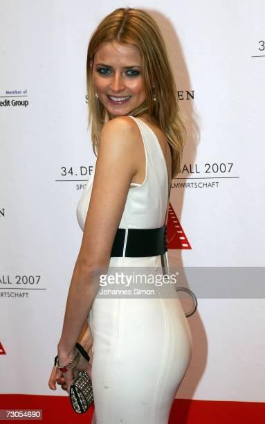 German model Eva Padberg attends the 34th annual German Film Ball at the Bayerischer Hof Hotel January 20 2007 in Munich Germany