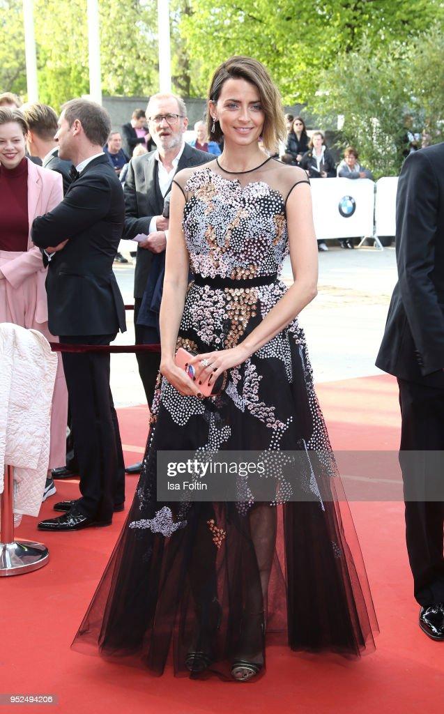 German model Eva Padberg attends the Lola - German Film Award red carpet at Messe Berlin on April 27, 2018 in Berlin, Germany.