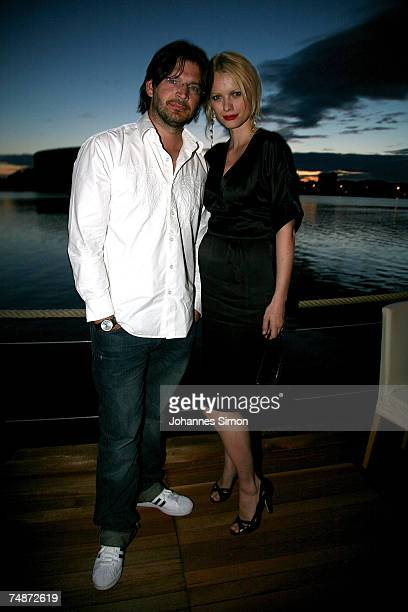 German model Franziska and her husband Christian Moestl attend the DTM Come Together party on June 23 2007 in Nuremberg Germany