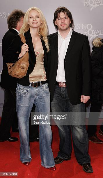 German model Franziska Knuppe and her husband Christian Moestl attend the German premiere to Casino Royale at the CineStar November 21 2006 in Berlin...