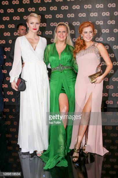 German model Franziska Knuppe German presenter Barbara Schoeneberger and German presenter Palina Rojinski are seen on stage during the GQ Men of the...