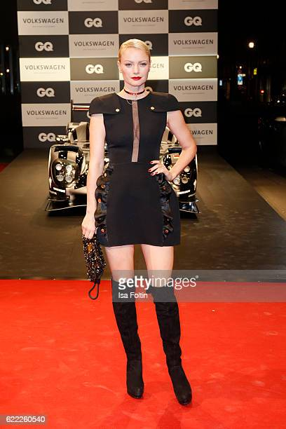 German model Franziska Knuppe wearing a dress by Elisabetta Franchi attends the GQ Men of the year Award 2016 at Komische Oper on November 10 2016 in...