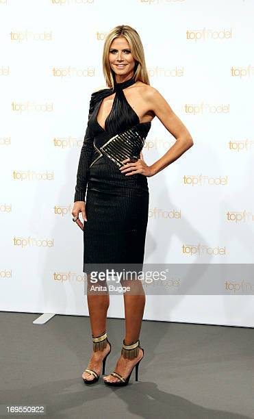 German model Heidi Klum attends a photo call for the reality television show and modeling competition Germany's Next Topmodel at Waldorf Astoria on...