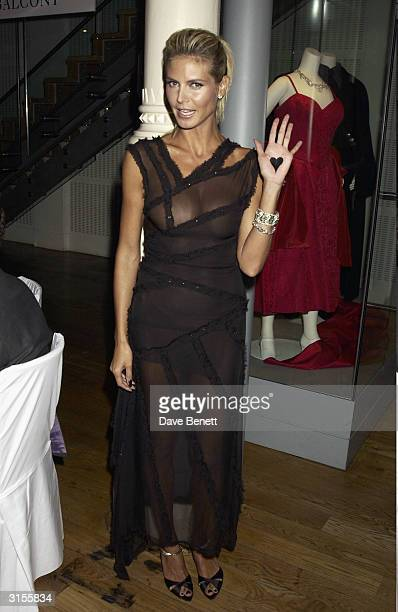 German model Heidi Klum attends the GQ Magazine 'Men of the Year Awards' held at the Floral Hall in the Royal Opera House on September 2 2003 in...