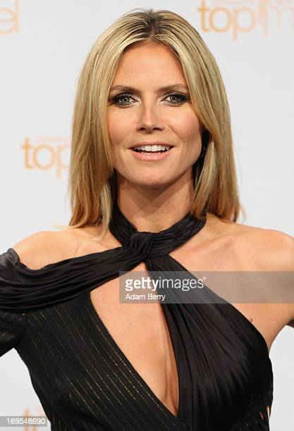 German model Heidi Klum poses at a photo call for the reality television show and modeling competition Germany's Next Topmodel at the Waldorf Astoria...