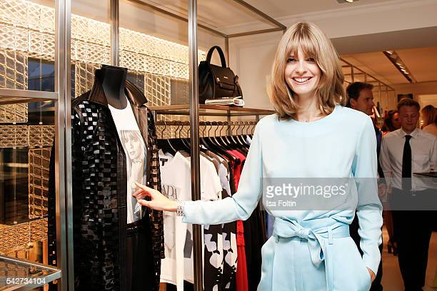 German Model Julia Stegner attends the ESCADA Flagship Store Opening on June 23 2016 in Duesseldorf Germany