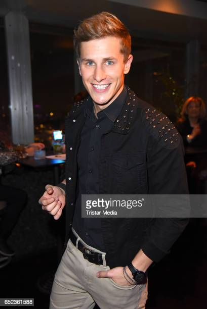 German model Lukas Sauer attends the album release 'Green Surpreme' by DJ Phonique on March 11, 2017 in Berlin, Germany.