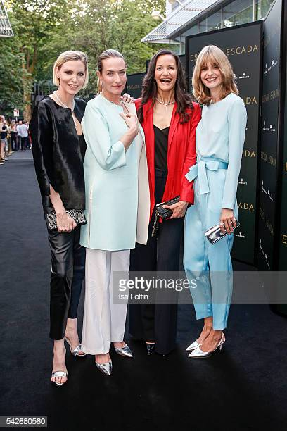 German model Nadja Auermann German Model Tatjana Patitz US Model Claudia Mason and German Model Julia Stegner attend the ESCADA Flagship Store...