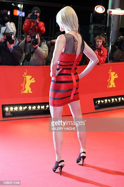 German model Natascha Gruen on the red carpet for the premiere of the movie Pina by German director Wim Wenders on February 13 2011 in Berlin on the...