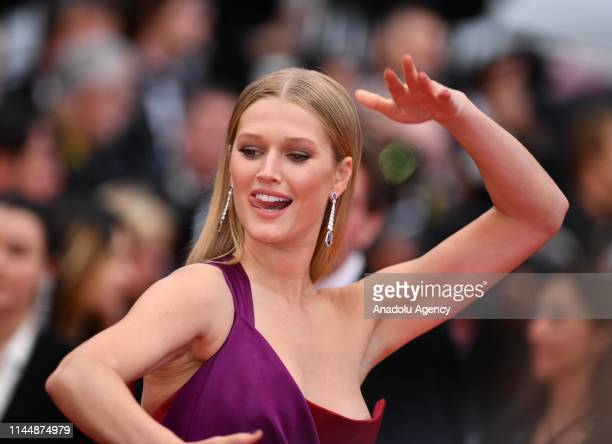 German model Toni Garrn arrives for the screening of the film 'Les Plus Belles Annees d'une Vie' at the 72nd annual Cannes Film Festival in Cannes...
