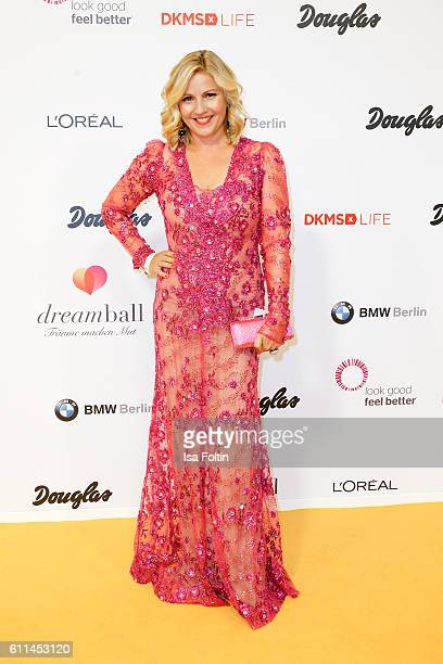 German moderator Aleksandra Bechtel attends the Dreamball 2016 at Ritz Carlton on September 29 2016 in Berlin Germany