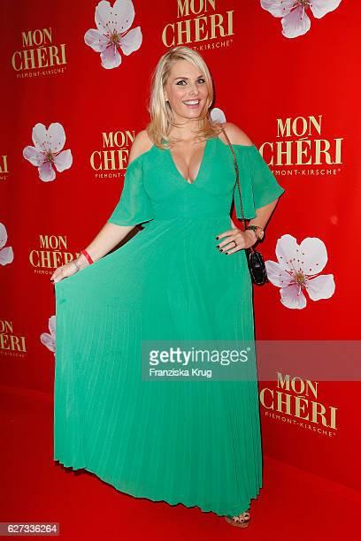 German moderator Alessandra Geissel attends the Mon Cheri Barbara Tag at Postpalast on December 2 2016 in Munich Germany