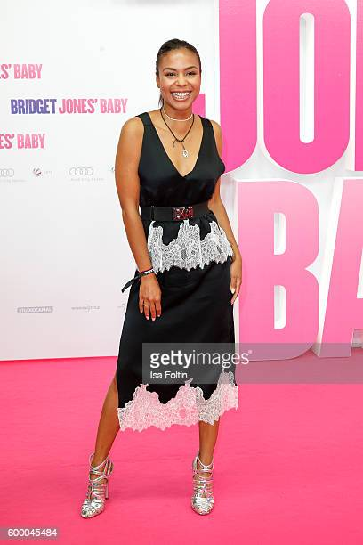 German moderator Alexandra Maurer attends the 'Bridget Jones Baby' German Premiere at Zoo Palast on September 7 2016 in Berlin Germany