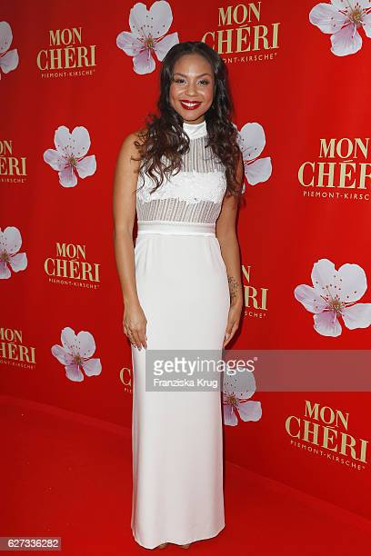 German moderator Alexandra Maurer attends the Mon Cheri Barbara Tag at Postpalast on December 2 2016 in Munich Germany