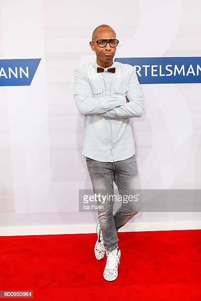 German moderator Amiaz Habtu attends the Bertelsmann Summer Party at Bertelsmann Repraesentanz on September 8 2016 in Berlin Germany