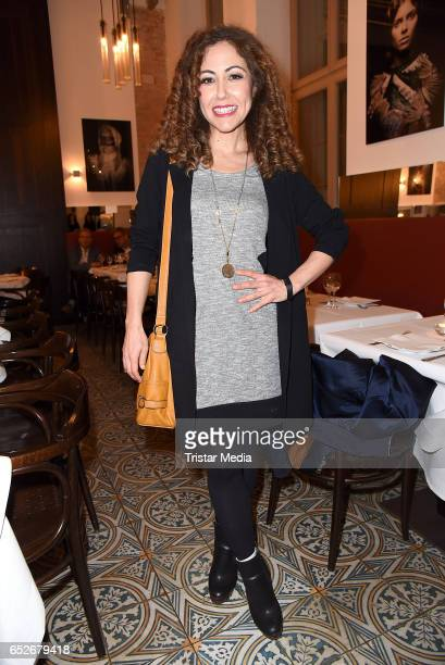 German moderator Anastasia Zampounidis attends the Private Soul Foods Presents Max Mutzke at Restaurant Centolire on March 12 2017 in Berlin Germany