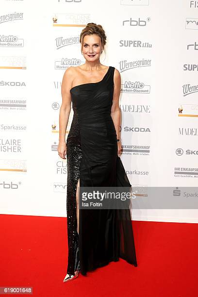 German moderator and singer Kim Fischer attends the Goldene Henne on October 28, 2016 in Leipzig, Germany.