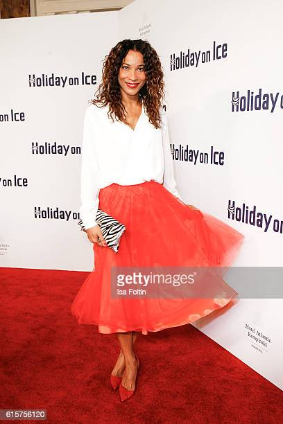 German moderator Annabelle Mandeng attends the 'Holiday on Ice' gala at Hotel Atlantic on October 19 2016 in Hamburg Germany