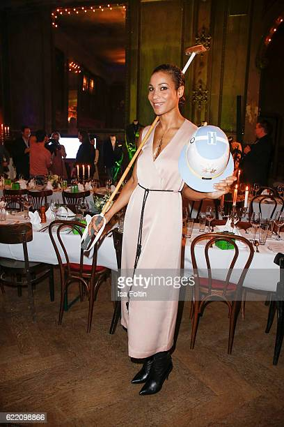 German moderator Annabelle Mandeng attends the La Martina x GQ PreDinner on November 9 2016 in Berlin Germany