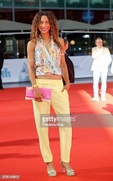 German moderator Annabelle Mandeng attends the premiere of the film 'PETS' at CineStar on July 20 2016 in Berlin Germany
