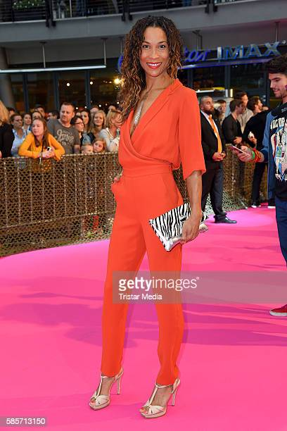 German moderator Annabelle Mandeng attends the Suicide Squad Live Event at CineStar on August 3 2016 in Berlin Germany