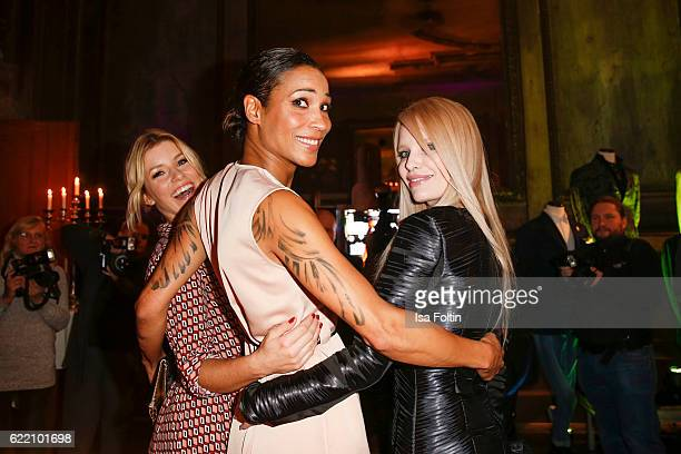 German moderator Annica Hansen german moderator Annabelle Mandeng and german model Mirja du Mont attend the La Martina x GQ PreDinner on November 9...