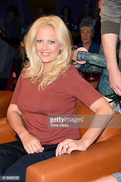 German moderator Barbara Schoeneberger during the 'NDR Talk Show' Photocall on October 7 2016 in Hamburg Germany