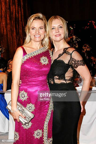 German moderator Carola Ferstl and fashion Designer Jette Joop attend the aftershow party during the 23rd Opera Gala at Deutsche Oper Berlin on...
