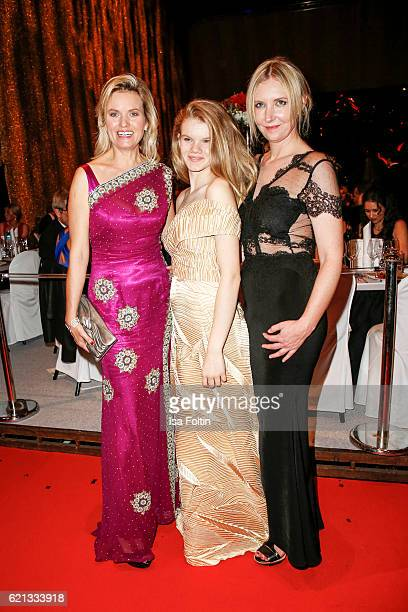 German moderator Carola Ferstl with her daughter Julia Ferstl and fashion Designer Jette Joop attend the aftershow party during the 23rd Opera Gala...