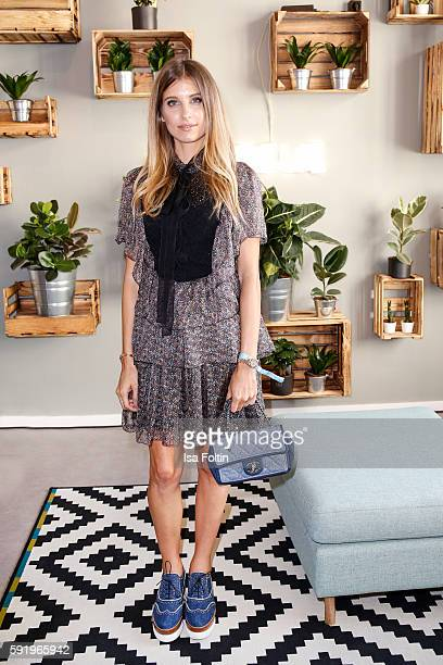 German moderator Cathy Hummels attends the Amorelie Wonderland dinner party at their new headquarter on August 19 2016 in Berlin Germany