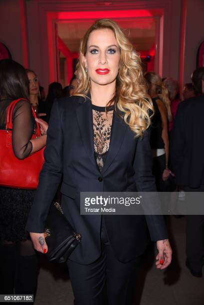 German moderator Charlotte Wuerdig attends the JT Touristik Pink Carpet party at Hotel De Rome on March 9 2017 in Berlin Germany