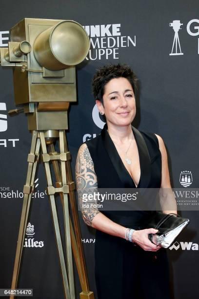 German moderator Dunja Hayali arrives for the Goldene Kamera on March 4, 2017 in Hamburg, Germany.
