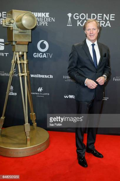 German moderator Gerhard Delling arrives for the Goldene Kamera on March 4 2017 in Hamburg Germany