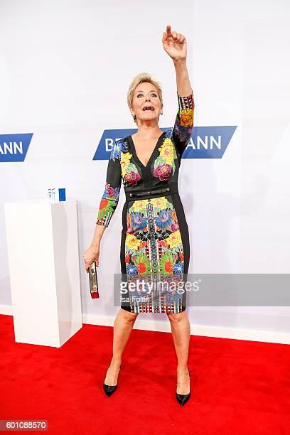German moderator Inka Bause attends the Bertelsmann Summer Party at Bertelsmann Repraesentanz on September 8 2016 in Berlin Germany
